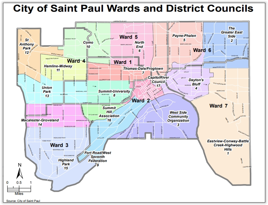 District and Ward map