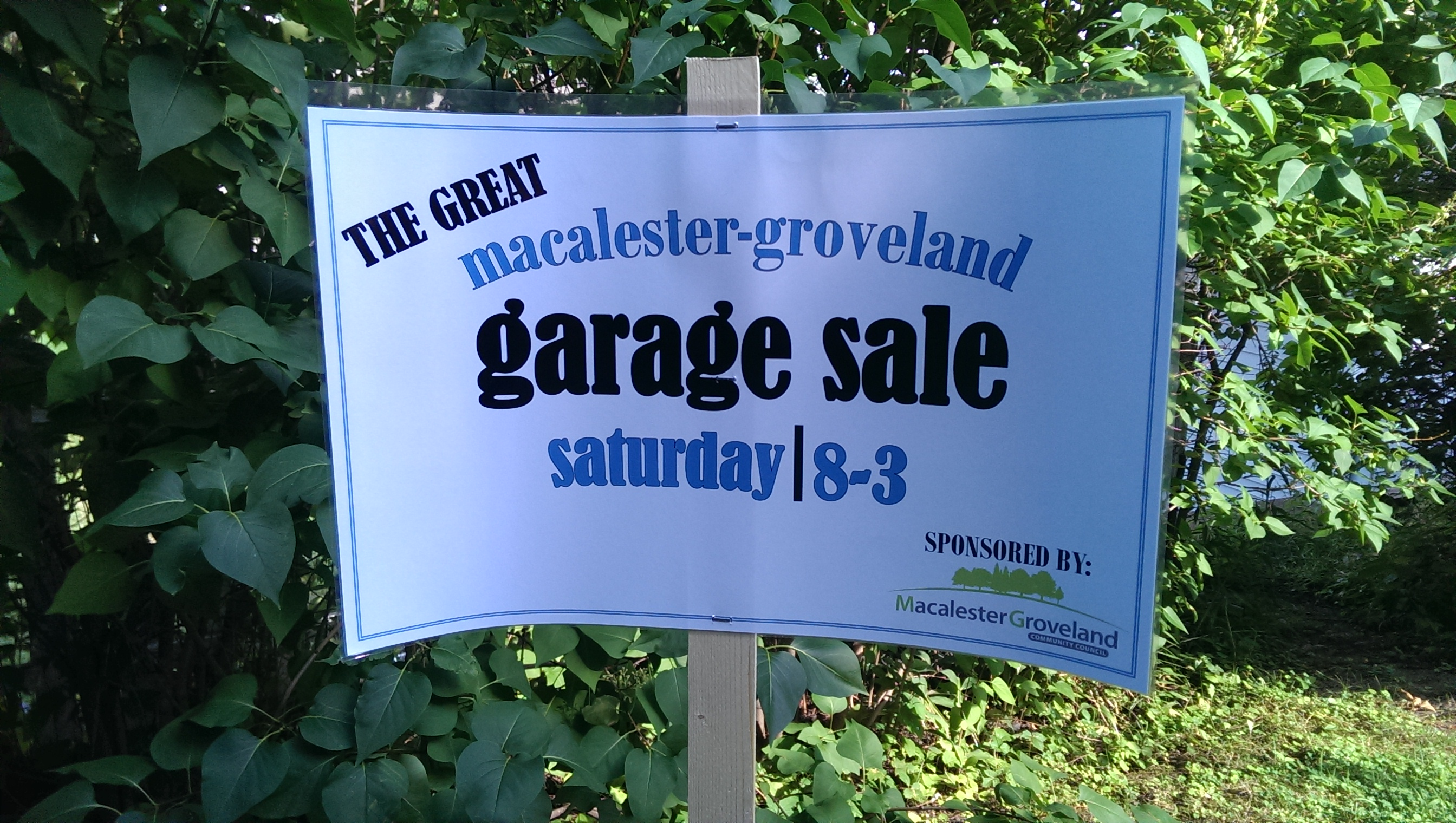 Garage Sale - Macalester-Groveland Community Council