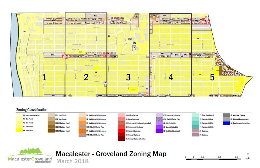 Mac-Grove updated parcel, zoning, and grid map